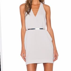 Halston Heritage Gray Racerback Dress